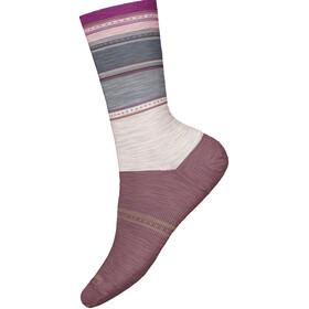 Smartwool Sulawesi Stripe Crew Naiset sukat , violetti